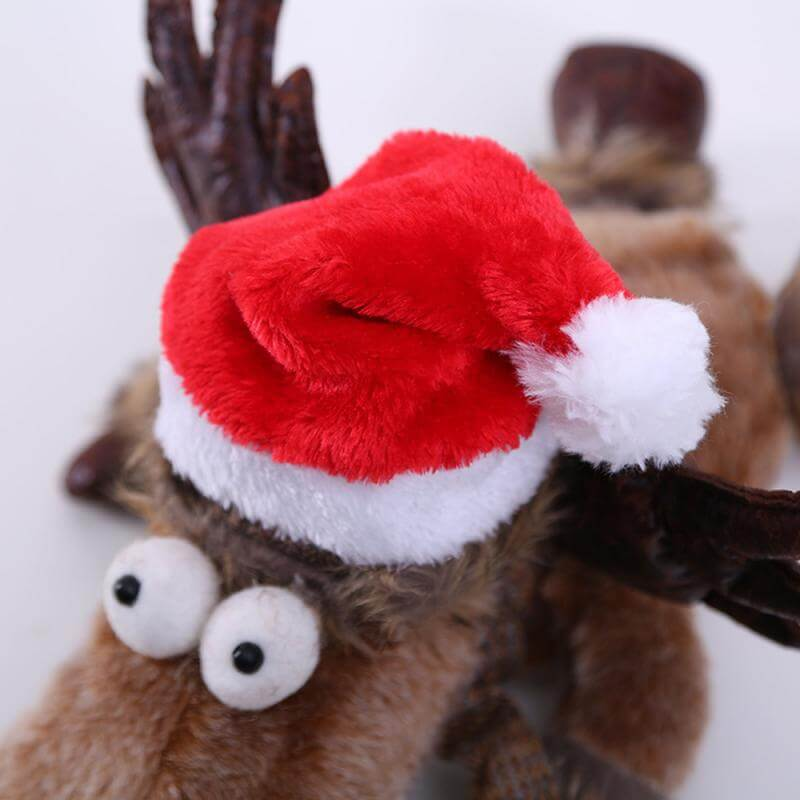 Red Faux Fur Christmas Santa Hat for Pet