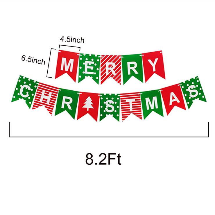 Online Party Supplies Australia Red Green MERRY CHRISTMAS Paper Banner Bunting xmas decorations