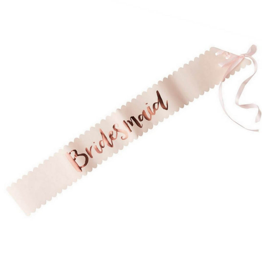Rose Gold Hen Party Satin Sash