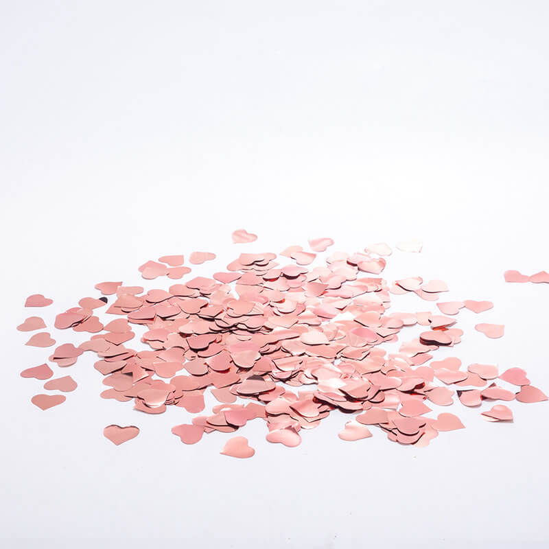 20g Metallic Rose Gold Foil Heart Confetti Wedding Table Scatters