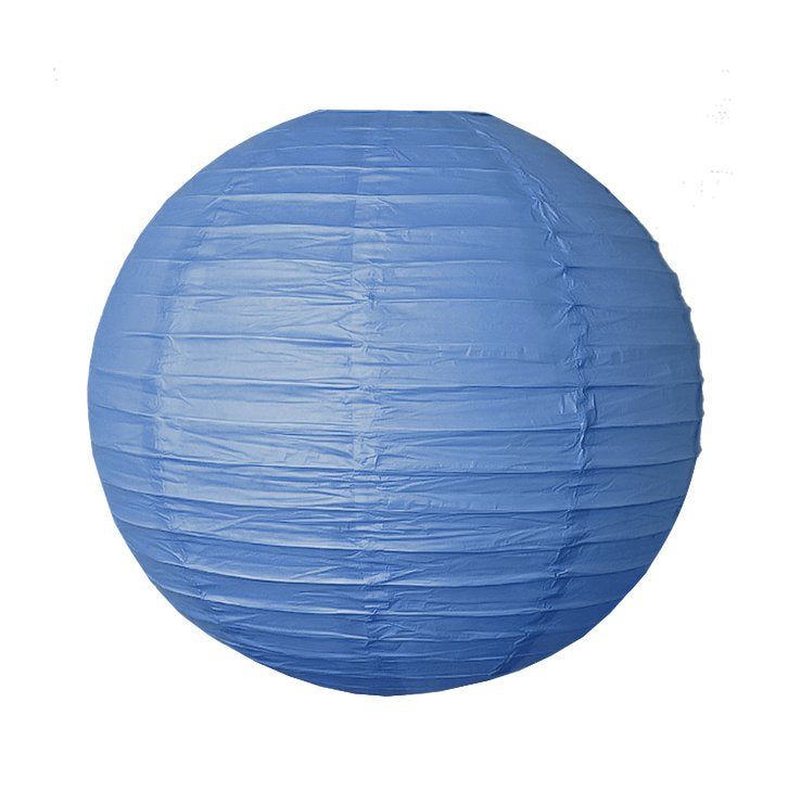 Royal Blue Round Chinese Paper Lantern - 4 Sizes