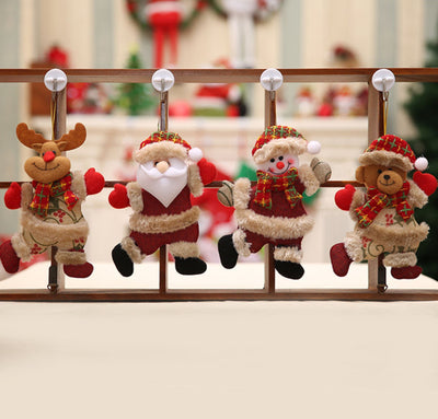 Santa Claus, Snowman, Elk, Bear Christmas Tree Hanging Decorations - Online Party Supplies