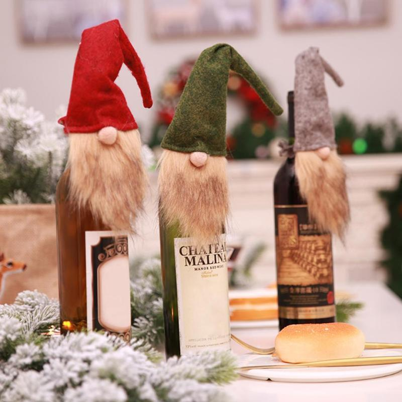 Scandinavian Gnome Tomten Christmas Santa Wine Bottle Topper