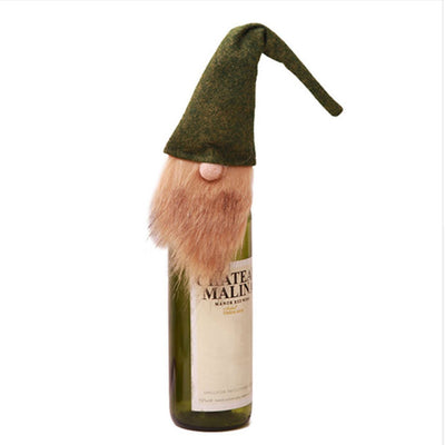 Scandinavian Gnome Tomten Christmas Santa Wine Bottle Topper - Online Party Supplies