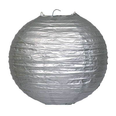 Online Party Supplies Australia 6-inch silver Decorative Paper Lanterns Balls
