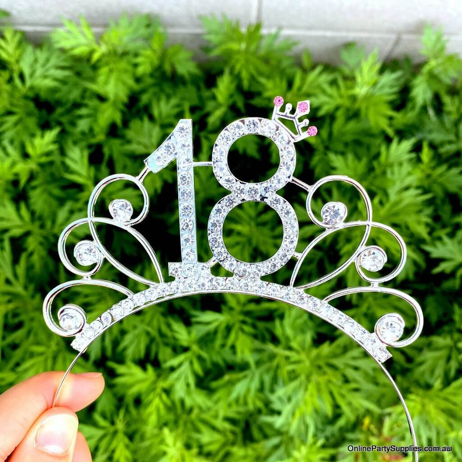Online Party Supplies Australia Metal Rhinestone 18th Birthday Tiara Eighteenth Birthday Party Decorations