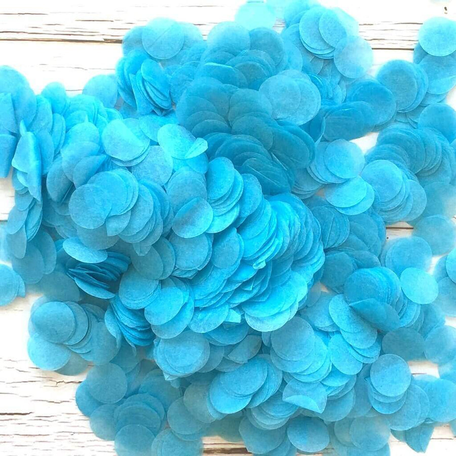 20g Round Circle Tissue Paper Party Confetti - Sky Blue