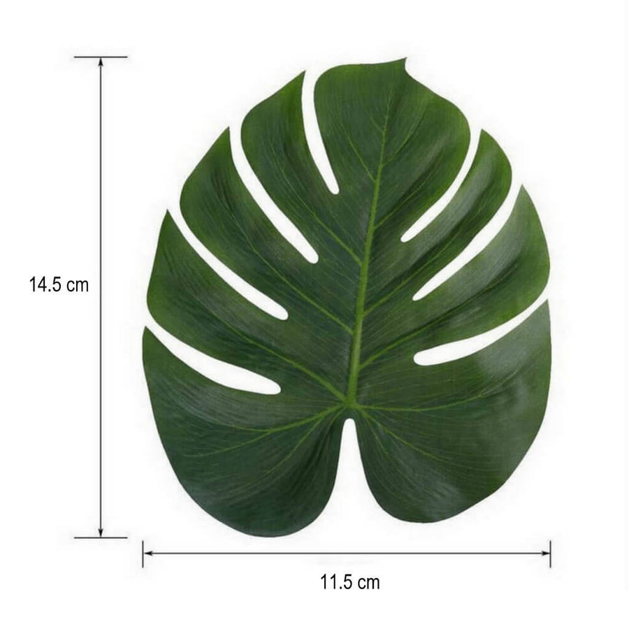 Tropical Artificial Monstera Leaf for Hawaiian Luau Party Decor (Pack of 10)