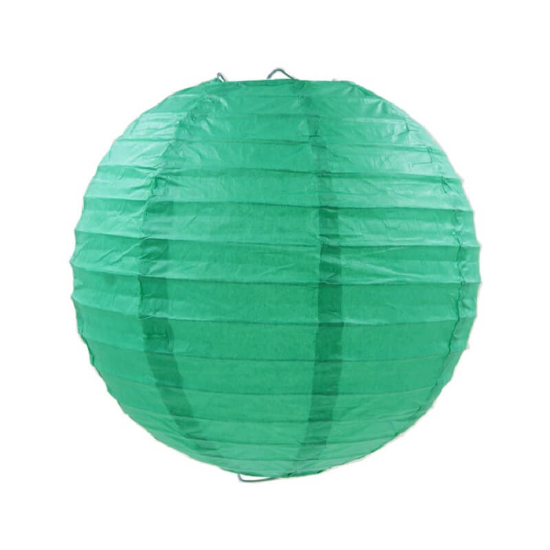 Teal Round Chinese Paper Lantern - 4 Sizes