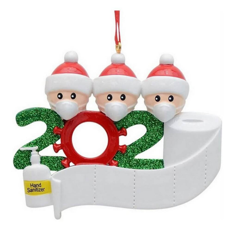 2020 Quarantine Christmas Ornament - Family of 3