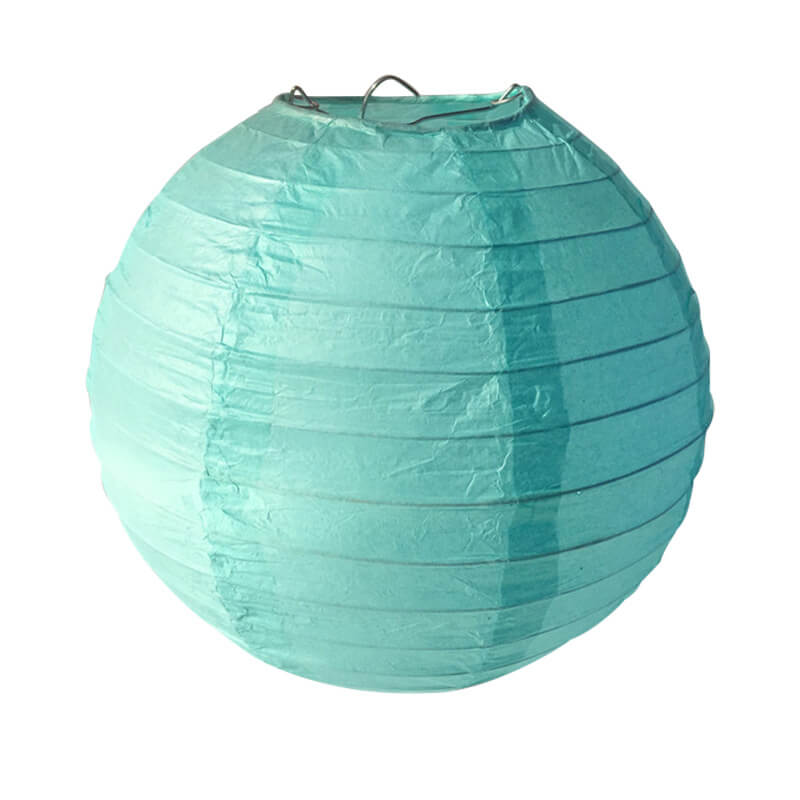 Tiffany Blue Round Chinese Paper Lantern - 4 Sizes