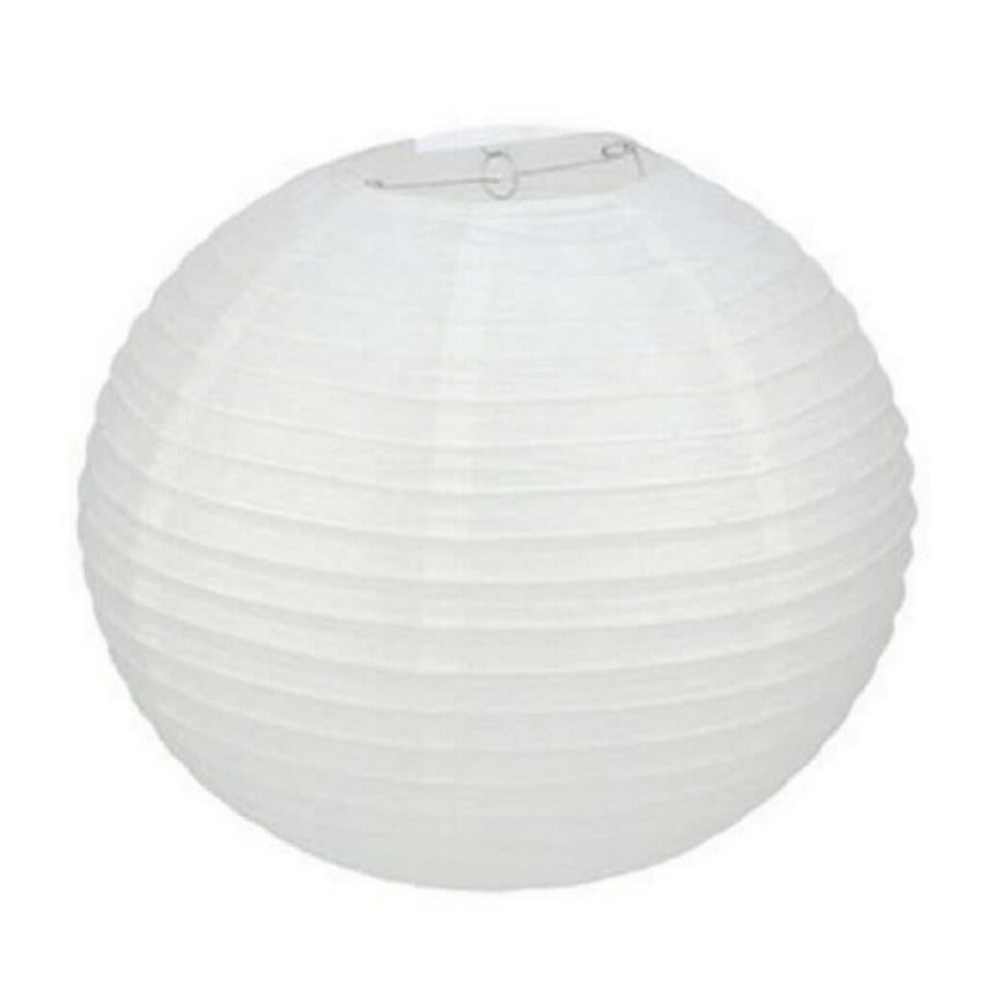 White Round Chinese Paper Lantern - 4 Sizes
