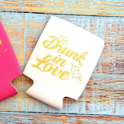 Online Party Supplies White Drunk In Love Bachelorette Hen Party Stubby Holder