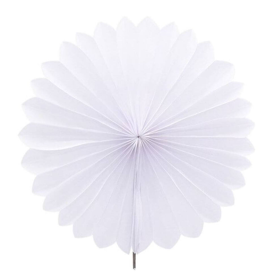White Tissue Paper Fan - 6 Sizes