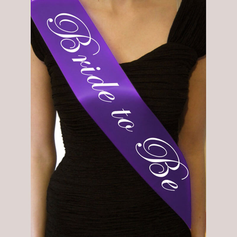 Online Party Supplies Australia Purple 'Bride To Be' Bachelorette Party Satin Sash