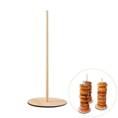 Wooden Donut Stacker Free Stand doughnut holder candy buffet decorations
