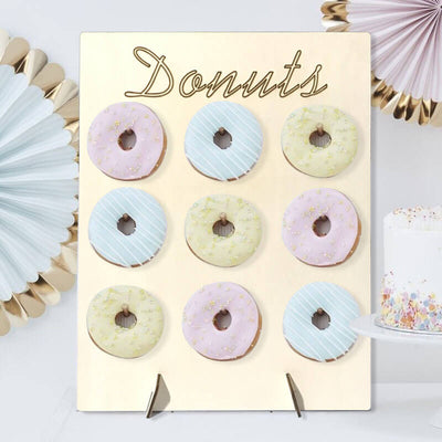 30cm x 40cm Wooden Donut Wall Stand for Wedding
