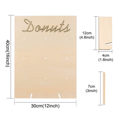 30cm x 40cm Wooden Donut Wall board backdrop measurements