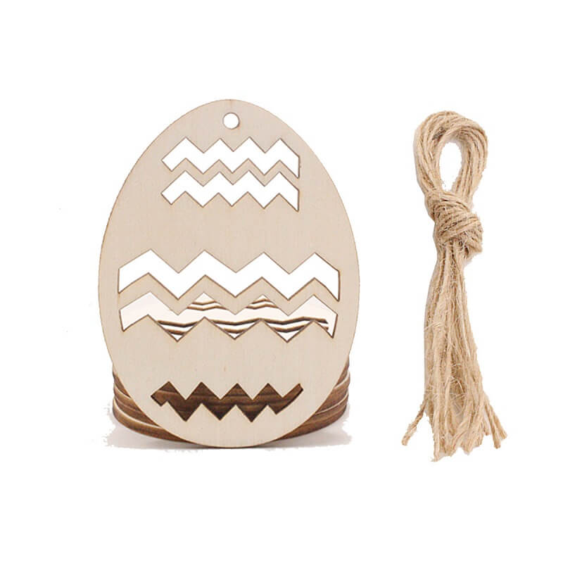 Online Party Supplies Australia Laser Cut Wooden Easter Egg Hanging Decorations 10 Pack