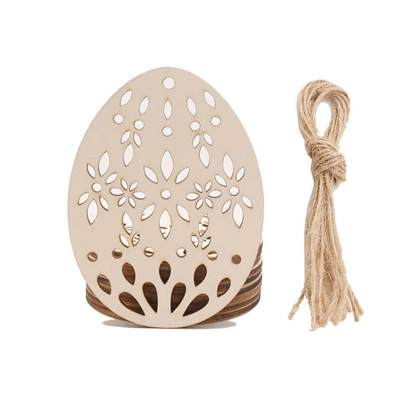 DIY Laser Cut Wooden Easter Egg 10 Pack