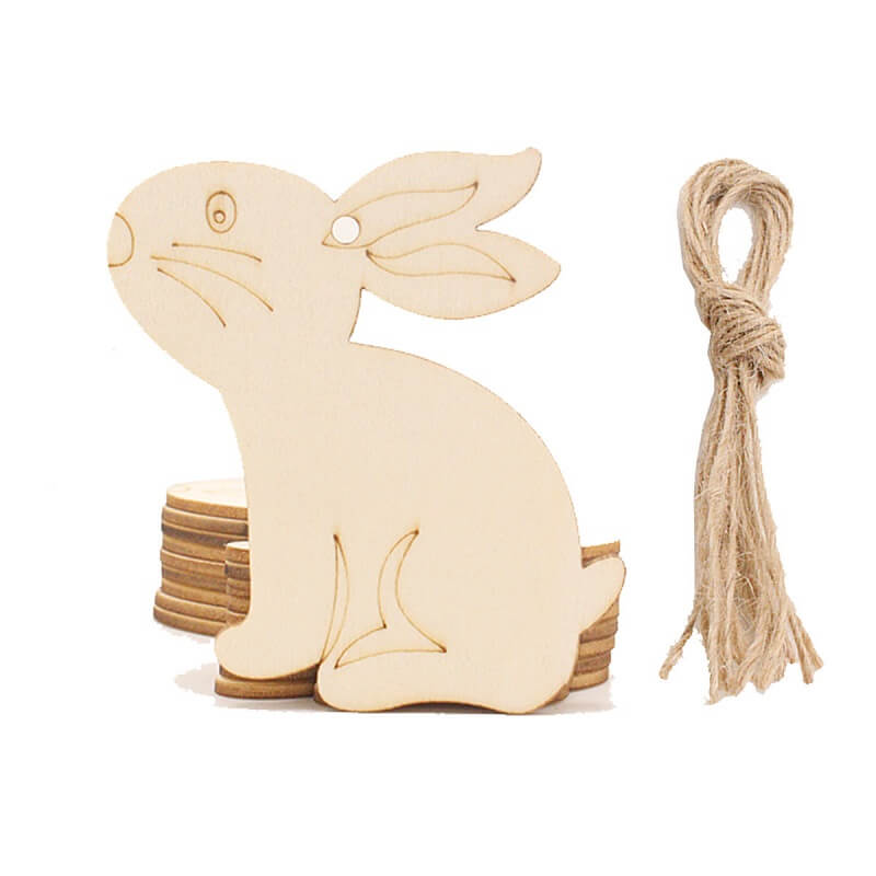 Online Party Supplies Australia Laser Cut Wooden Easter Bunny Rabbits Hanging Decorations 10 Pack