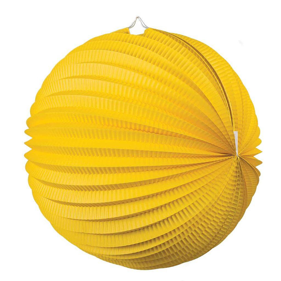 Yellow Accordion Paper Lantern Ball - 20cm