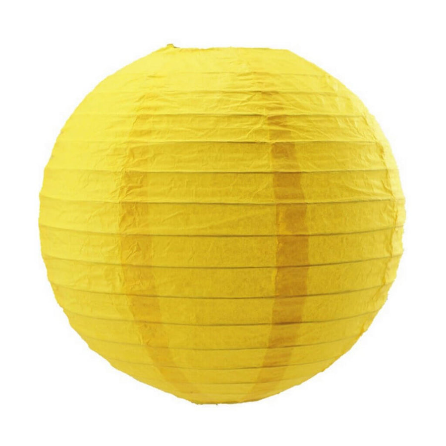 Yellow Round Chinese Paper Lantern - 4 Sizes