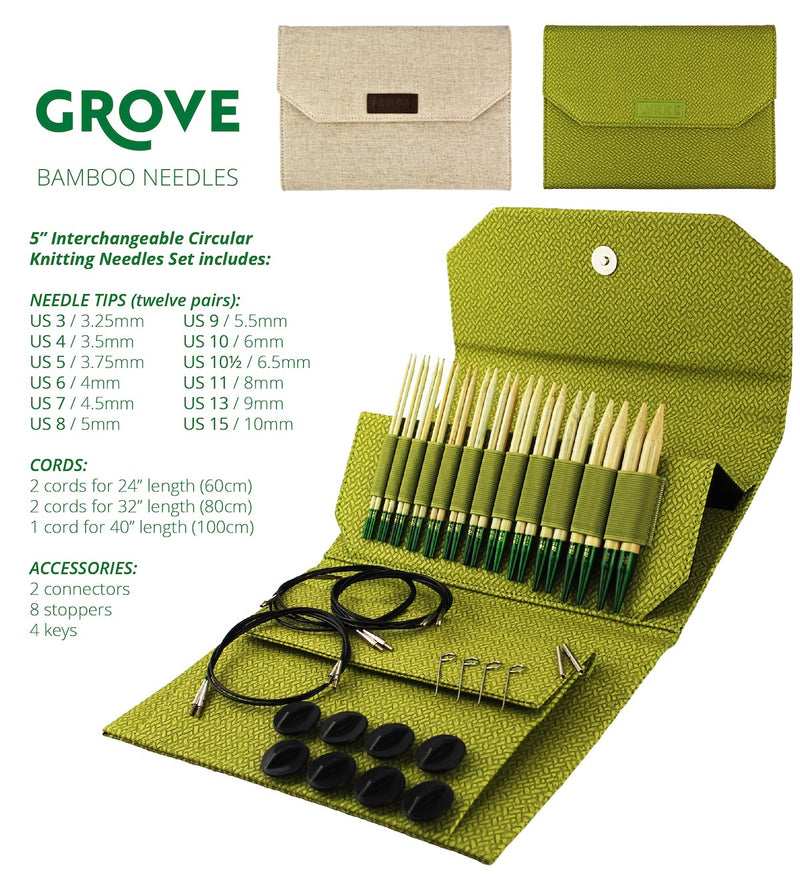 "Grove Interchangeable Set- 13cm/5"" Tips"