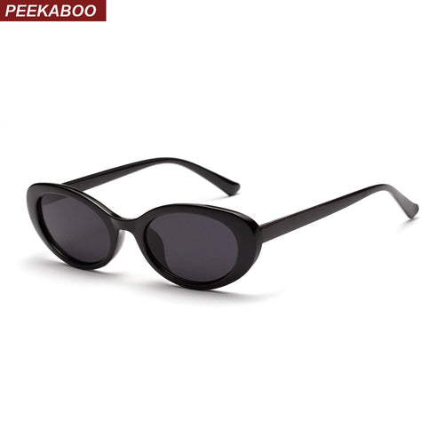 5d9bbafc76 Peekaboo retro oval sunglasses women small summer accessories 2018 pink  white black oval sun glasses for