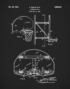 Basketball Goal Patent Print, Basketball Coach Gift, Basketball Art, P358