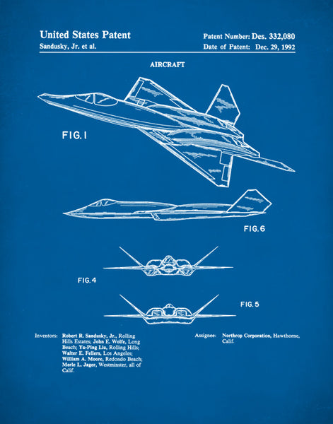 Fighter Plane Patent Print, Jet Fighter Plane Poster, Fighter Plane Art, Aircraft Art, P320