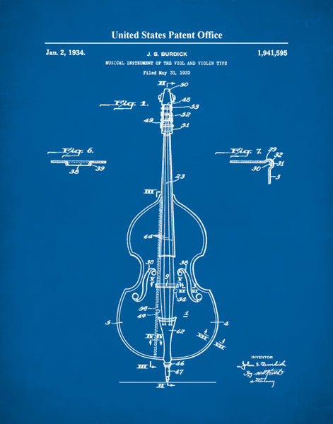 Upright Bass Patent Print, Acoustic Bass, Upright Bass Poster, Bass Art, Jazz Bass, P554