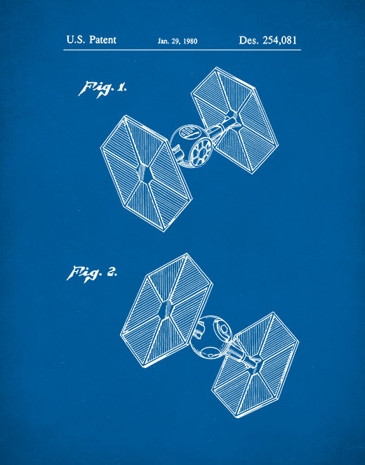 Star Wars Tie Fighter Poster, Tie Fighter Patent Print, Tie Fighter Art, P78