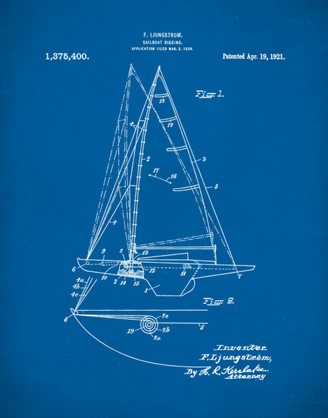 Sailboat Patent Print, Sailboat Poster, Sailboat Patent, Sailboat Art, P207