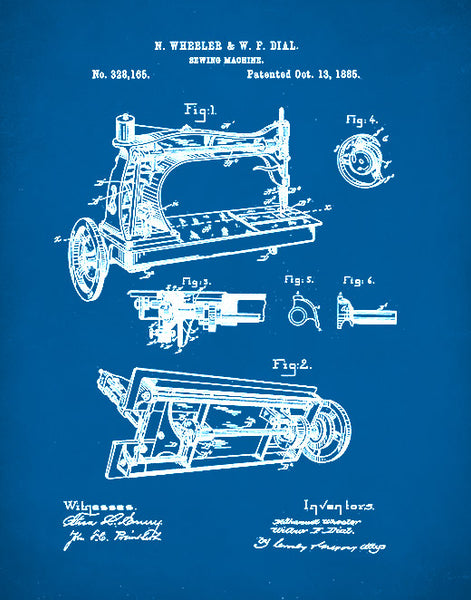 Sewing Machine Patent Print, Sewing Machine Poster, Sewing Machine Art, P89
