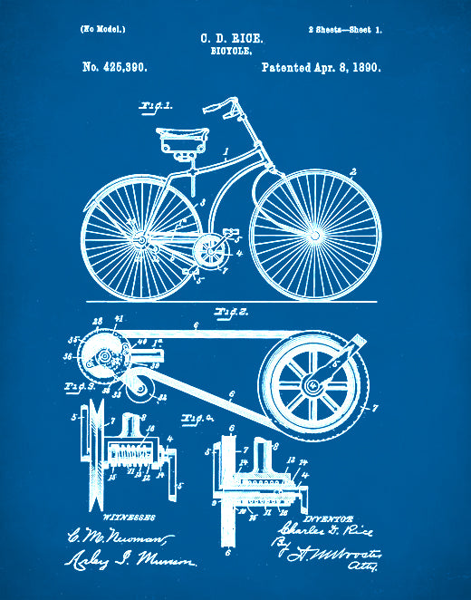 Bicycle Patent, Bicycle Art, Bicycle Poster, Bicycle Print, Bicycle Decor, Bicycle Blueprint, Bicycle Wall Art, P73