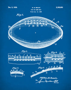 Football Patent Print, Football Poster, Football Ball Art, Football Decor, Football Mom, P195