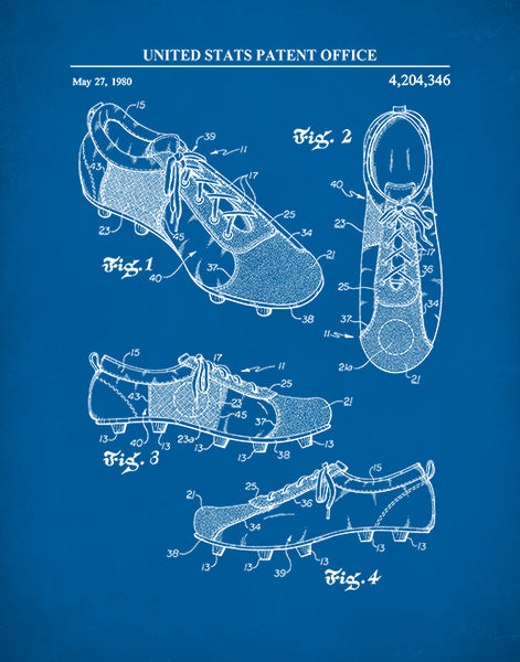 Soccer Cleats Patent Print, Soccer Shoes Poster, Sports Wall Art, P560