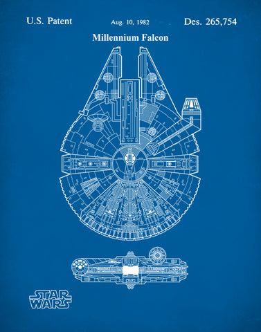 Star Wars Millennium Falcon Patent Prints, Star Wars Han Solo, P153
