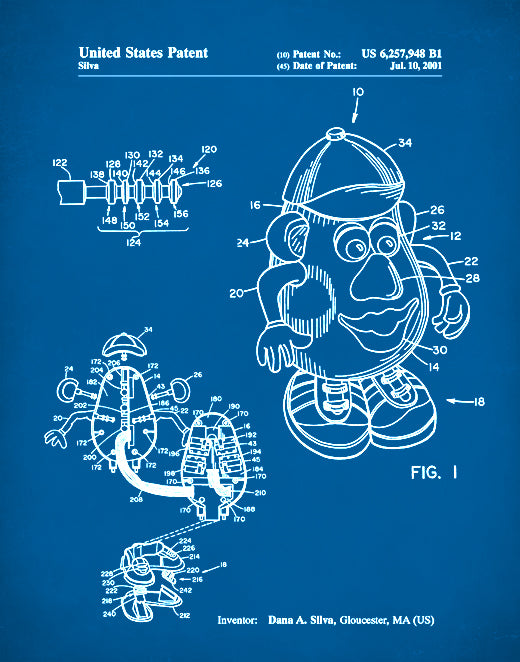 Mr. Potato Head Patent Print, Mr. Potato Head Poster, Mr. Potato Head Art, P72