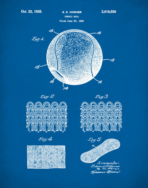 Tennis Ball Patent Print, Tennis Ball Poster, Tennis Ball Art, P216