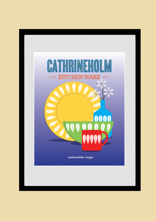 CATHRINEHOLM Poster, Kitchen Art, Mid-Century Modern, Retro Poster, Giclee Print, AW42