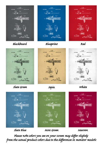 Airbrush Patent Poster, Wold Airbrush Patent, Wold Airbrush Art, Airbrush Wall Art, P293