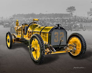 Classic Car Print, 1911 Marmon Waspt, Retro Print, Race Car. Sports Car, AW94