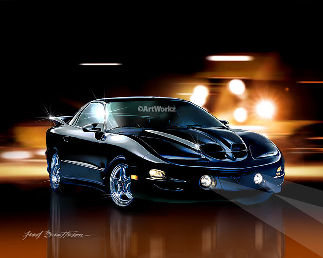 2002 Pontiac Trans Am WS6, Auto Art, Muscle Car, AW73
