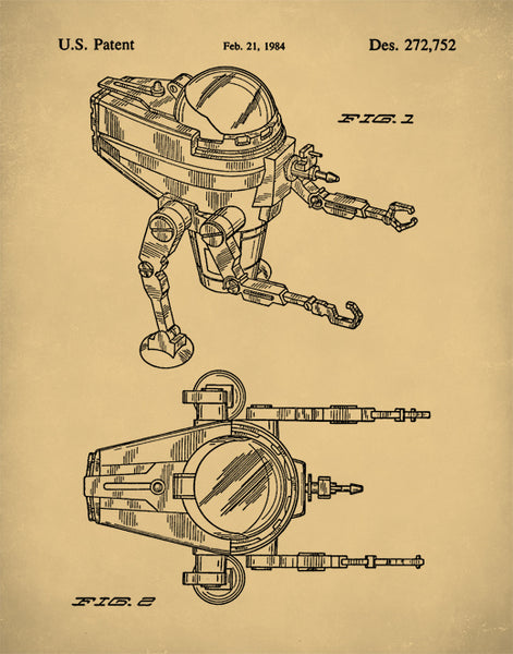 Star Wars CAP-2 Mini-Rig Patent Print, Sear Wars Patent Art, Star Wars Wall Art, P228