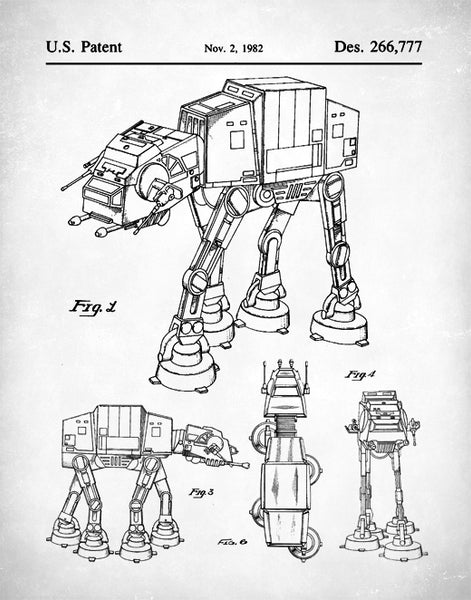 Star Wars AT-AT Patent Print, Imperial Walker Patent Art, P157