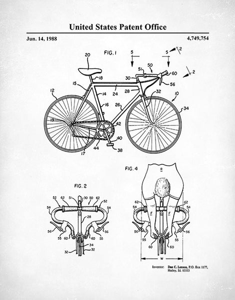 Racing Bicycle Patent Print, Bicycle Race Poster, Cycling Poster, Racing Bicycle Print, P505