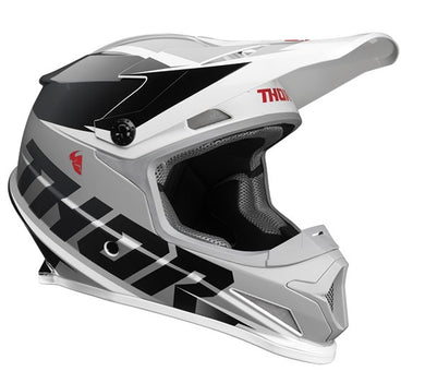 Thor MX S21 Sector Fader Black/White Helmet Small
