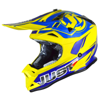 JUST1 J32 Pro Rave Blue/Yellow MX Helmet